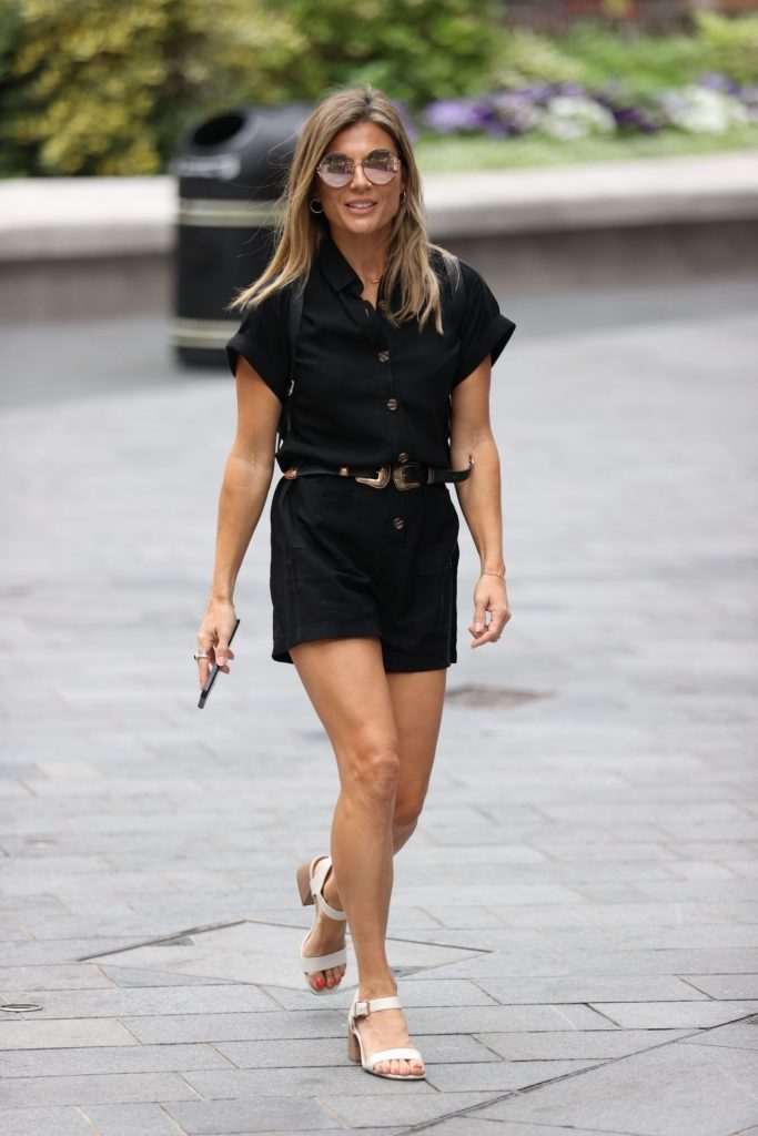 Zoe Hardman in Black Playsuit – Arriving at Heart Radio in London 2020 (9 Photos)