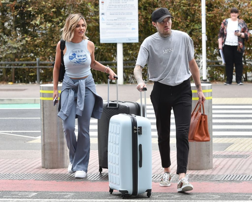 Megan Barton Hanson – Arriving at Stansted Airport 2020