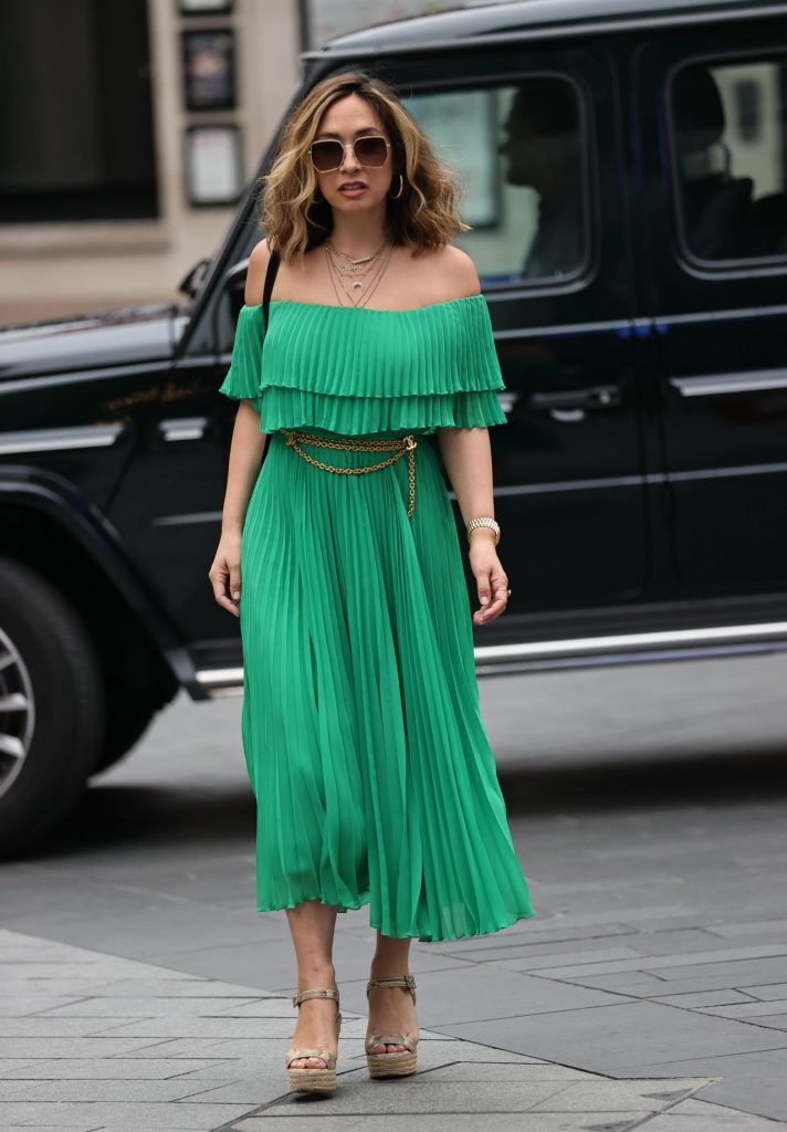 Myleene Klass – Outside the Smooth Radio in London 2020